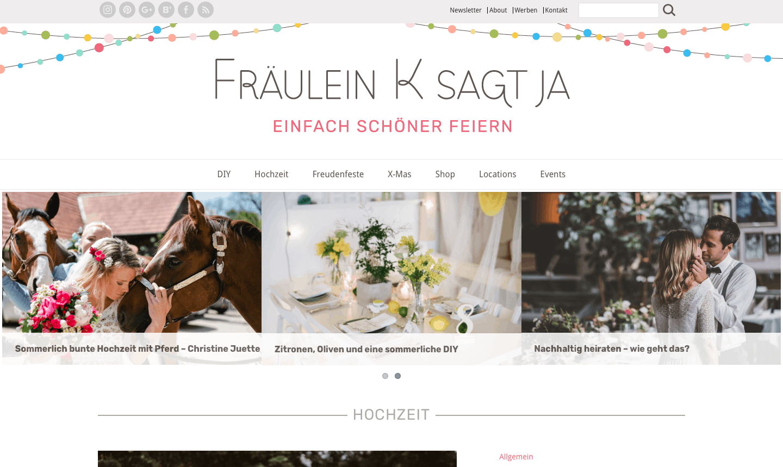 Hochzeitsblogs: Fräulein K sagt Ja