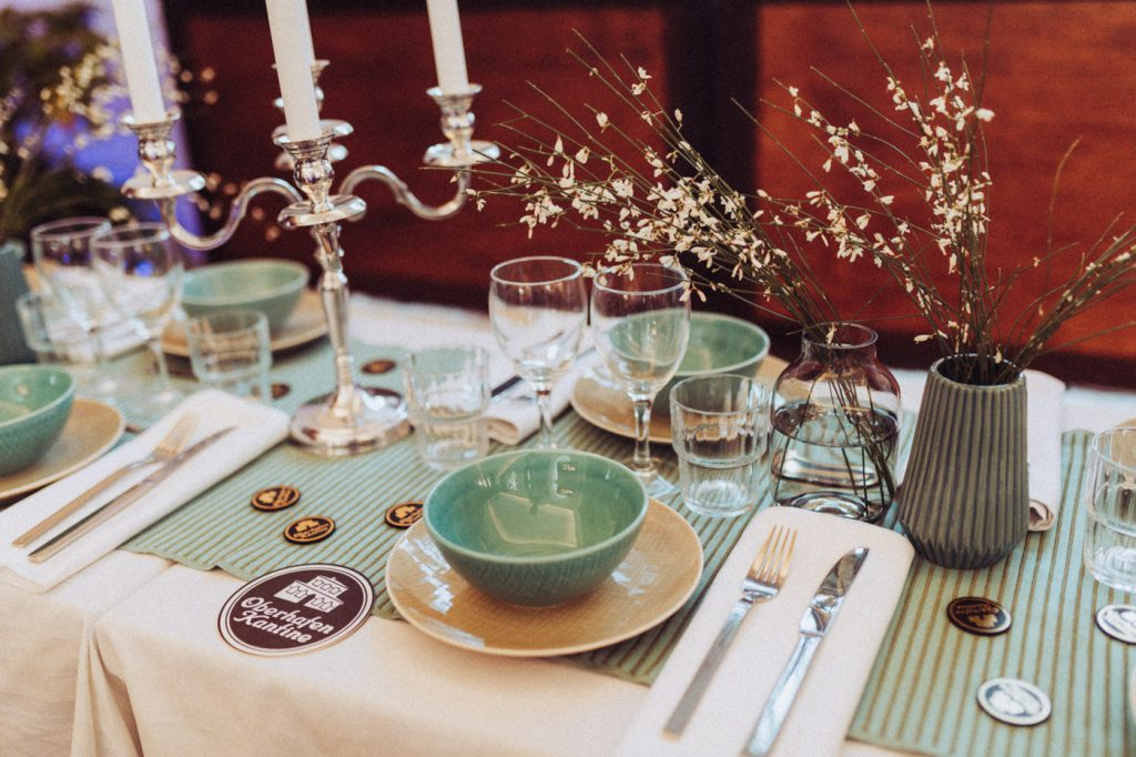 Dekoration in grün Hochzeit