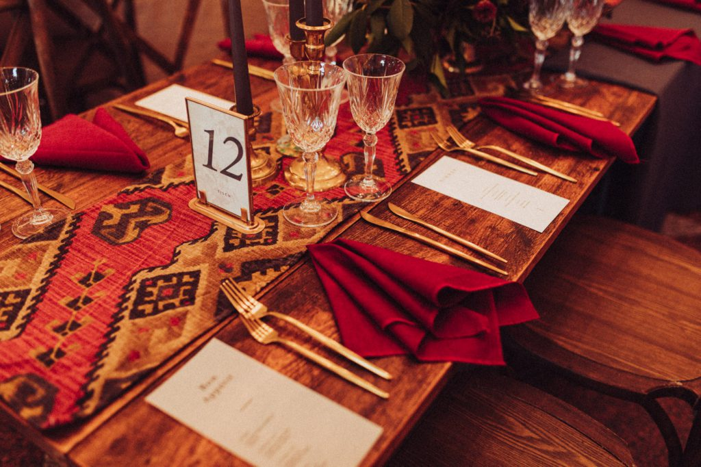 Hochzeitstisch mit Tischnummer
